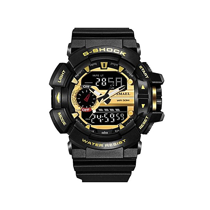 30M Waterproof Mens Sports Watch Jam Tangan S Shock Military Watch Jam  Tangan Digital LED Electronic 1f076faf6a