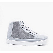Canvas Panel High Top Trainers