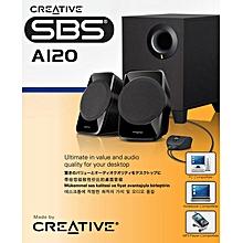 SBS A120 2.1 channel Computer Speaker System Ultimate Value for your Desktop Audio