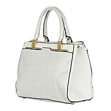 White And Gray CMR CEMRE Shoulder Bag