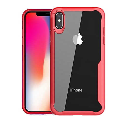 low priced 8451b 73143 IPhone XS Max Transparent Case PC And TPU Phone Back Cover - Red