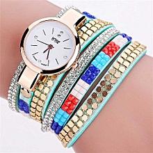 CCQ  Vintage Leather Bracelet Watch Women Wristwatch Quartz