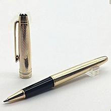 High Quality Luxury Roller Pen 163 Golden Wave Texture Rollerball Pen Metal Gift Pen for School Offi