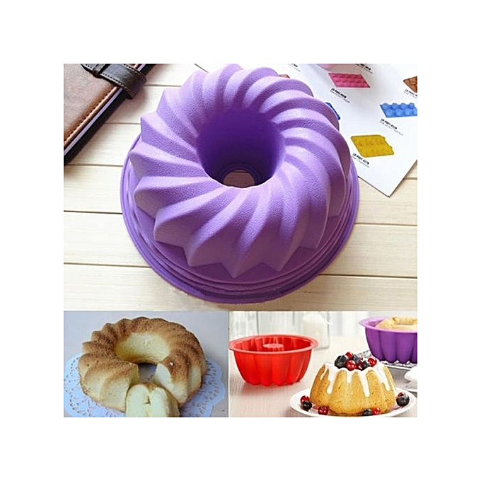 ... Silicone Pan Ring Shaped Cake Pastry Bread Mold Tray Mould Bakeware Kitchenware ...
