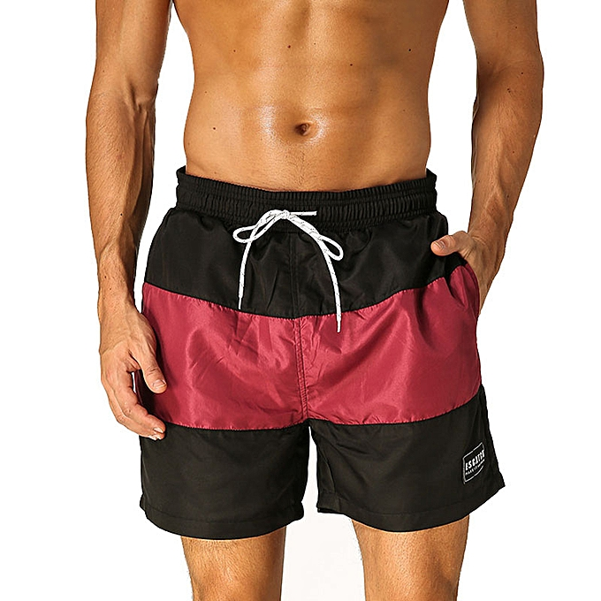 e6335de5a2 Men Swimwear Swimsuits Surf Board Beach Wear Swimming Trunks Boxer Shorts  Gay Pouch - Red Wine ...