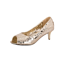 Gold Women's Office Shoes
