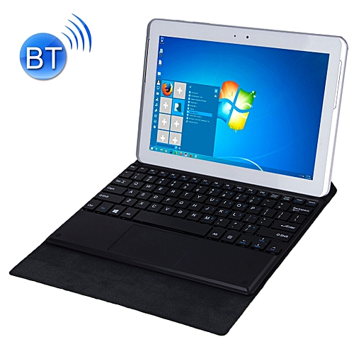 d2ff86d0ab3 Generic Bluetooth Keyboard Matte Texture Leather Case with Holder for 10.1 inch  Windows 7 / 8 / 10 Tablet PC(Black)