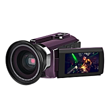 4K Camcorder Video Camera Camcorders 48.0MP 60 FPS Ultra HD Digital Cameras and Video Recorder n External Wide Angle Lens LIEGE