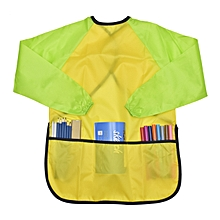 Children's Overall Long-sleeved Apron Waterproof Paint Clothes Pocket