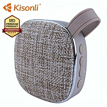 Portable Bluetooth Speaker Woofer FM radio soft fabric- grey