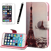 Eiffel Tower Flip Leather Stand Wallet Case Cover Skin For IPhone 6 Plus-AS Shown