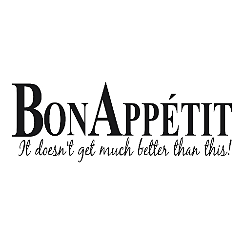 buy generic vinyl wall stickers quote bon appetit dinning room decor