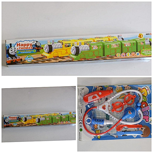 a588cf689 Generic Train Toy + Doctor s on Site Kids Playing Toys-Unisex   Best ...