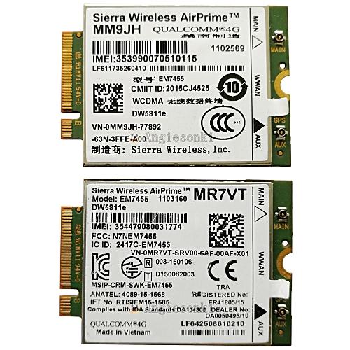 DW5811E 1DPXG MM9JH MR7VT EM7455 PCIe M 2 300 Mbps LTE 4G WWAN Card Module  for Dell E7270 E7470 E7370