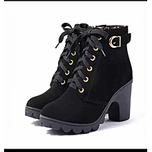 7c84c7a123a Fashion Women Chunky Block High Heel Ankle Boot