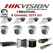 8-camera pack CCTV KIT, 1TB harddisk