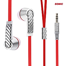 L3 Fashion Portable Super Bass Music In-ear Earphones Flat Cable-SILVER
