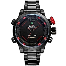 Watches, 2309 Men's Military Watches Multifunction Waterproof LED Casual Sport Stainless Watch - Black