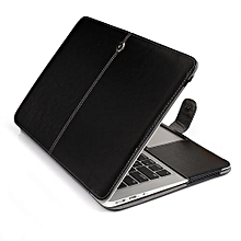 "13"" Air Case, One-piece Design Soft PU Leather Cover For Macbook Air 13.3 Inch, Black"