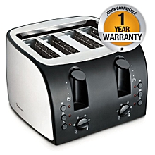 RM/195-Slice Pop Up Toaster- S/Steel