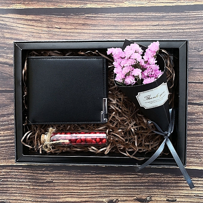 Fashion Black Wallet Is Not Lettering2018 Summer New Send Father To Boyfriend Birthday Holiday Creative Gifts Gift Boys Special