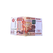 Banknote Pattern Pu Leather Wallet - Russia-5000