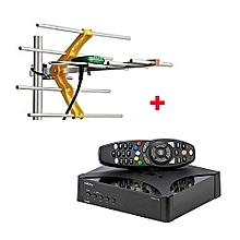 Digital Set Box Decoder,Plus FREE  Digital Aerial- Black
