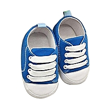 bluerdream-Toddler Shoes Anti-Slip Soft Solid  Canvas Shoes Sky Blue/-As Shown