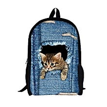 07ee9d3e5c47 bluerdream-3D Animal Print Cat Dog Backpack Student School College Shoulder  Bags A-As
