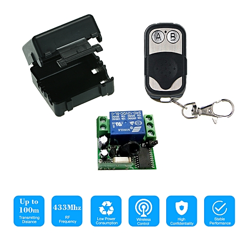 Smart Home 433Mhz DC 12V 1CH Wireless Remote Switch Relay Receiver on