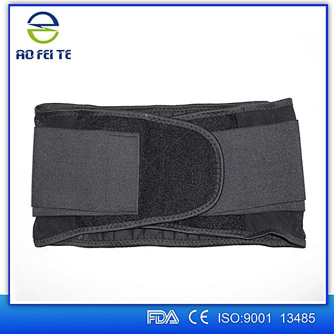 087315cb946 Sports Waist Back Support Black Fitness Durable Adjustable Spine Belt  Protector Belt Women Men Lumbar Back