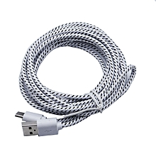 2M USB Type C Cable USB 2.0 to USB Type-C Fast Charging & Sync Data Cable-White