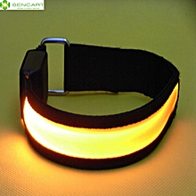 Gleamy Bracelet Flashing Wristband Armband Strap for Outdoor Activities - Yellow