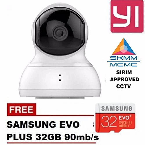 English Version XiaoYi Yi 360 Degree Pan Tilt Dome CCTV International  Edition Home IP Camera + SAMSUNG 32GB CL10 Bundle XINJIN