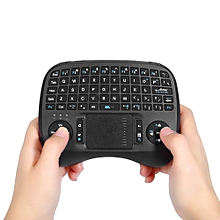 KP - 810 - 21T 2.4GHz Mini Wireless QWERTY Keyboard with Backlight-BLACK