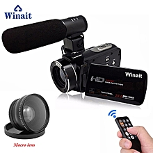 "Winait FHD 1080P Digital Video Camera max 24MP Camcorder 3"" LCD DIS 16X Digital Zoom Remote Control HDMI DV DVR filmadora LIEGE"