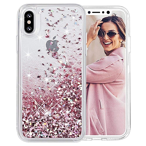 pretty nice 8f4df 54ac5 iPhone X Case, iPhone XS Glitter Case [Liquid Series] Girls Luxury Fashion  Bling Flowing Liquid Floating Sparkle Glitter Cute Soft TPU Case for iPhone  ...