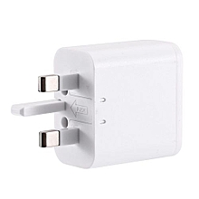 Portable Plug Power Charger Adapter-White