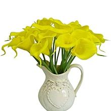 Artificial Calla Lily Flower Bouquet Home Decor 10Pcs Yellow