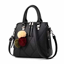 Black PU Leather Small Tote Bag