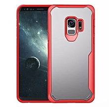 Samsung Galaxy S9 Silicon Transparent Case, PC And TPU Anti-knock Phone Back Cover For Samsung Galaxy S9-red.