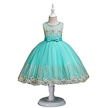 7fb356686d98 Kids Girls Dresses Elegant Flower Princess Party Formal Sleeveless Lace  Tulle Dress For Girl