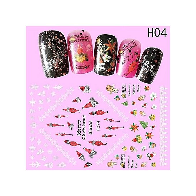 Buy Beauty Fancyqube DIY Water Transfer Nails Art Sticker Colorful ...