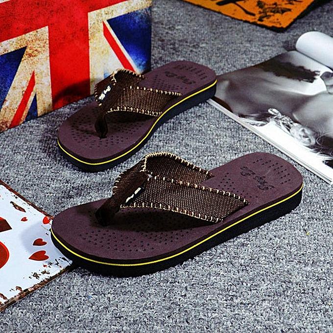 bedf190ea Fashion Hiamok Men Summer Flip Flops Shoes Sandals Male Slipper Flip ...