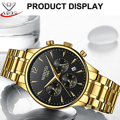 NIBOSI 2018 New Style Men Watches Men's Fashionable Casual Dress Watch  Military Quartz Wristwatches Saat Luxury Watch For Male 2326