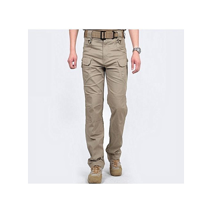 Refined Urban Tactical Pants Men Military Army Combat Assault SWAT Training  Army Trousers YKK Zipper-Brown