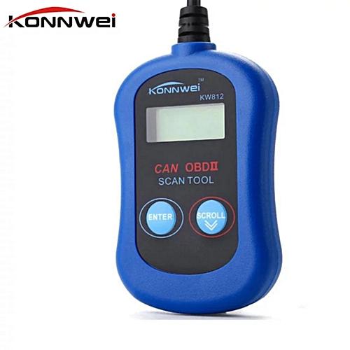 OBD2 OBDII LCD Automotive Diagnostic Scanner Tool Computer Vehicle Fault  Code Reader KW812/VAG305 LBQ