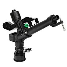 Plastic Impact Sprinkler Gun Sprinkler Head With 5 Spray Nozzles For Home Garden