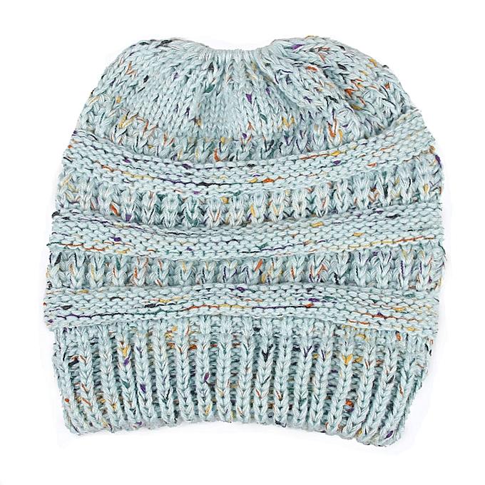 ec967015d90 Zetenis Women Baggy Warm Crochet Winter Wool Knit Ski Beanie Skull Slouchy  Caps Hat-Sky