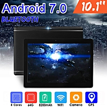 64GB+4G Android 7.0 Tablet PC Octa 8 Core HD WIFI Bluetooth 2 SIM 4G 10.1'' Hot - Black
